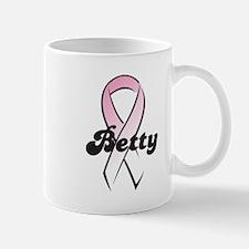 Betty Pink Ribbon Mug
