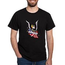 Freedom Eagle Flag Tattoo (Front) T-Shirt