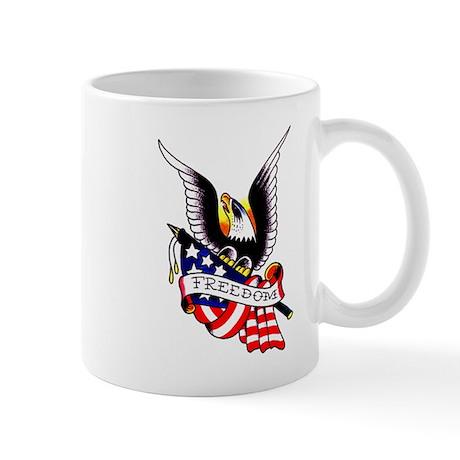 Freedom Eagle Flag Tattoo Mug