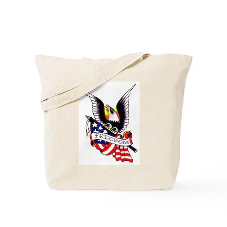 Freedom Eagle Flag Tattoo Tote Bag