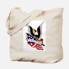 Freedom Eagle Flag Tattoo Tote Bag