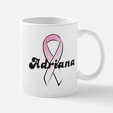 Adriana Pink Ribbon Mug