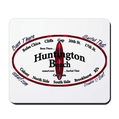Huntington beach mousepad by oosurf for Huntington card designs