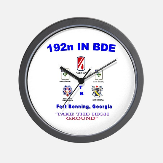 Unique 192nd inf bde Wall Clock