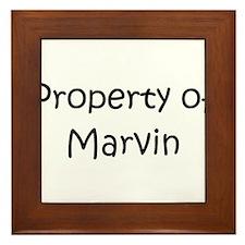 Unique Marvin Framed Tile