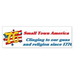 Small Town America Bumper Sticker (50 pk)
