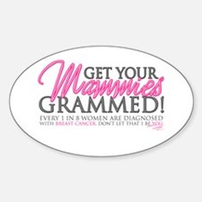 Mammies Grammed Oval Decal