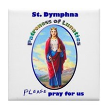 St. Dymphna Tile Coaster