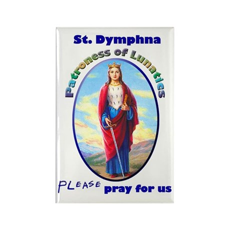 St. Dymphna Rectangle Magnet