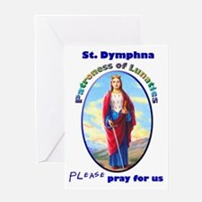 St. Dymphna Greeting Card