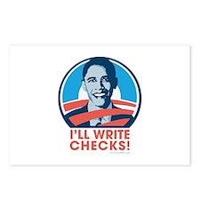 Obama: I'll Write Checks! Postcards (Package of 8)