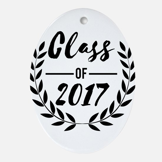 """Graduation gift """"Class of 2017& Oval Ornament"""