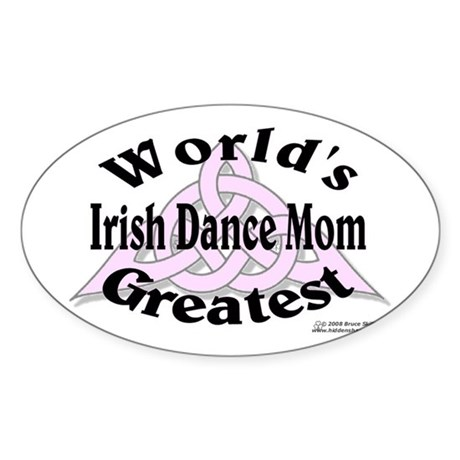 Greatest Mom - Oval Sticker