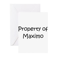Unique Maximo's Greeting Cards (Pk of 20)