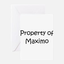 Funny Maximo Greeting Card