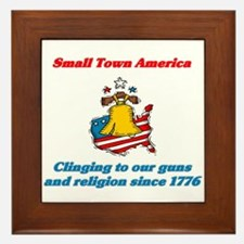 Small Town America Framed Tile