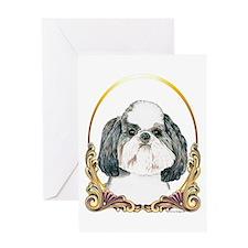 Puppy Shih Tzu Christmas Greeting Card