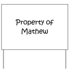 Unique Mathew Yard Sign