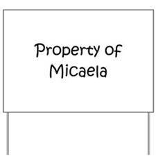 Unique Micaela Yard Sign