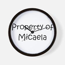 Funny Micaela Wall Clock