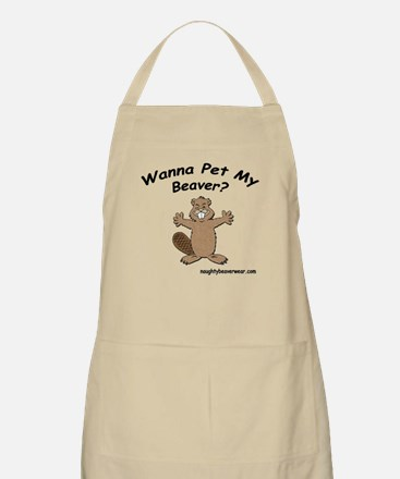 Wanna Pet My Beaver BBQ Apron