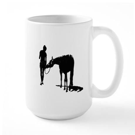 Girl And Pony Large Mug