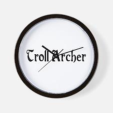 Troll Archer Wall Clock