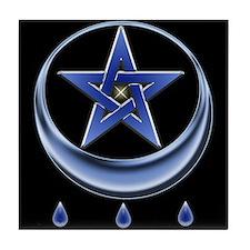 Blessing Symbol & Pentagram Tile Coaster