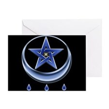 Blessing Symbol & Pentagram Greeting Card