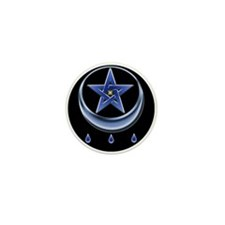Blessing Symbol & Pentagram Mini Button