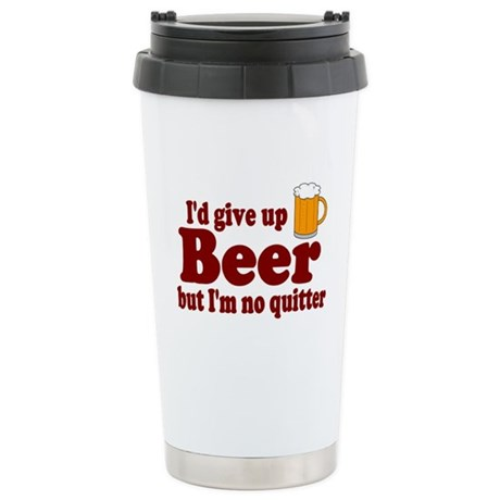 I'd Give Up Beer But I'm No Q Stainless Steel Trav