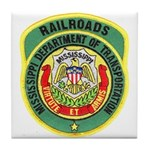Mississippi Railroads Tile Coaster