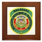 Mississippi Railroads Framed Tile