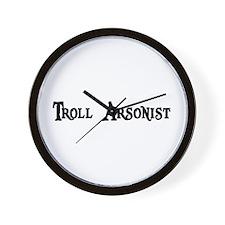 Troll Arsonist Wall Clock