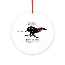 Greyhound Happy Holidays Ornament (Round)