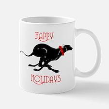 Greyhound Happy Holidays Mug