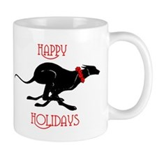 Greyhound Happy Holidays Mug
