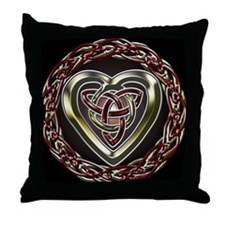Celtic Heart Throw Pillow