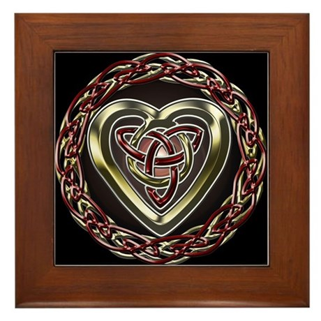 Celtic Heart Framed Tile