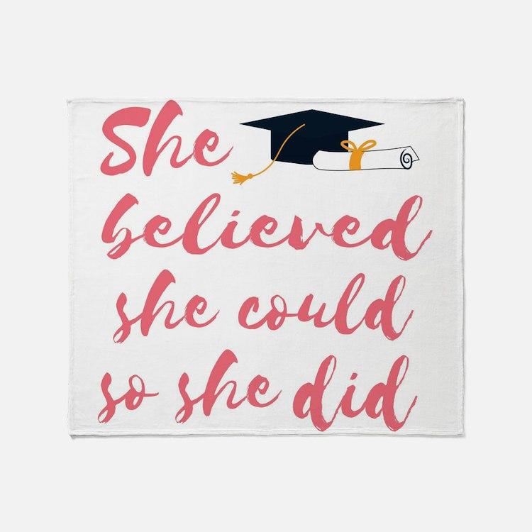 Graduation gift Throw Blanket