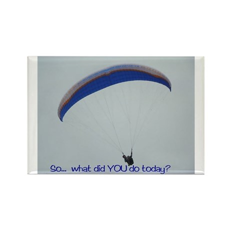 Paraglide Texas Rectangle Magnet