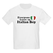 Everyone loves an italian boy Kids T-Shirt