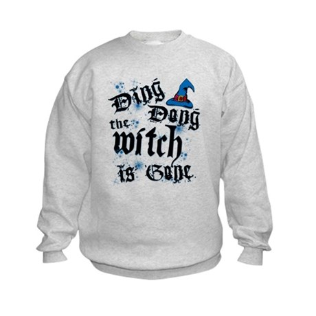 Ding Dong Witch Kids Sweatshirt
