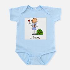 I Garden Stick Figure Infant Bodysuit