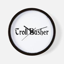 Troll Basher Wall Clock