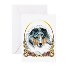 Merle Sheltie Christmas Greeting Cards (Pk of 20)