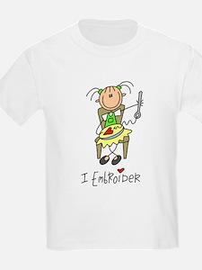 I Embroider Stick Figure T-Shirt