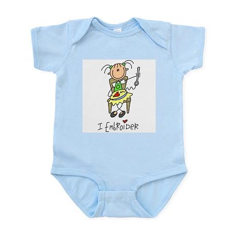 I Embroider Stick Figure Infant Bodysuit