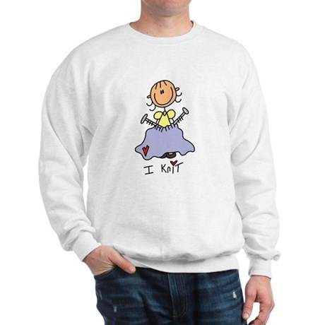 I Knit Stick Figure Sweatshirt