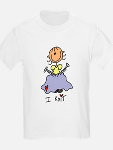 I Knit Stick Figure T-Shirt